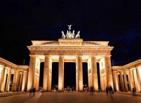 BRANDENBURG GATE at night in Berlin