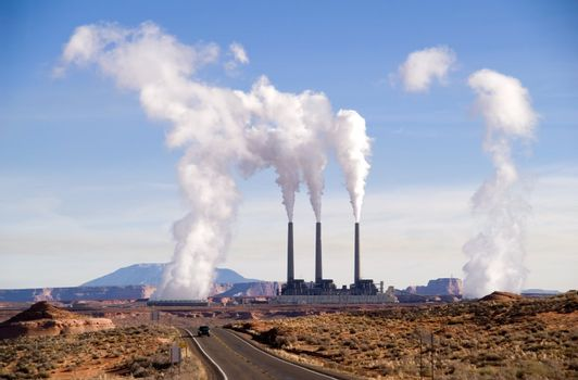 Power plant near Page, Arizona, USA