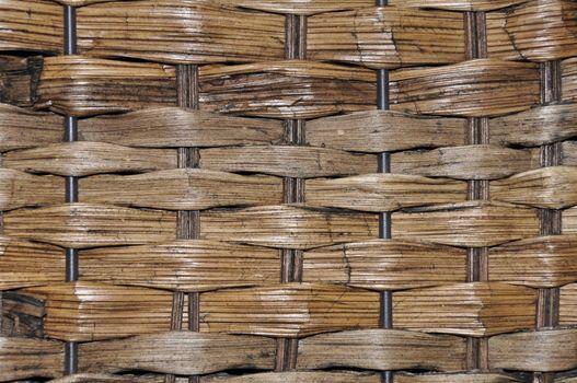 closeup view of a brown woven basket