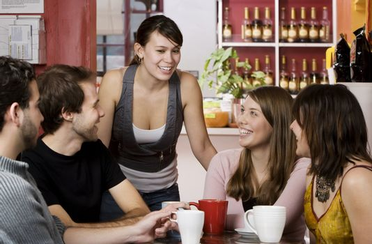 Friends in a Coffee House
