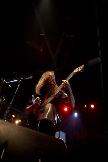 Bass-guitarist on live concert