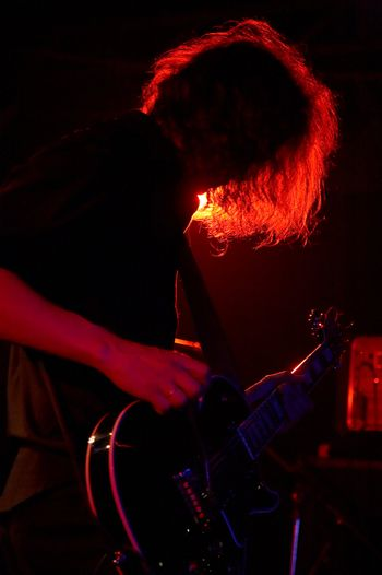 Rock-guitarist on live concert