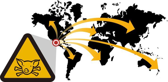 Risk of global epidemic of swine flu