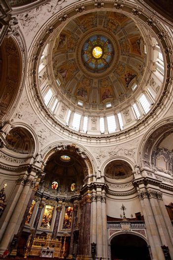 the interior of Berliner Dom in central Berlin Germany