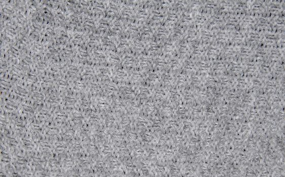closeup view of a gray knitted abstract