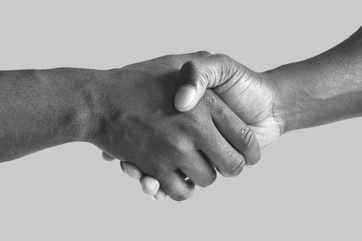 Handshake - Grayscale