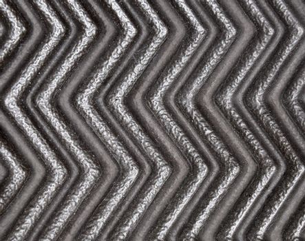 closeup view of a black and silver zigzag abstract