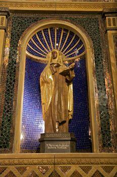 female saint statue
