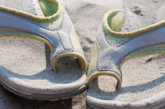 Flip-flops and sand