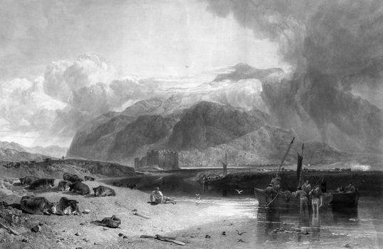 Loch Awe and Kilchburn Castle