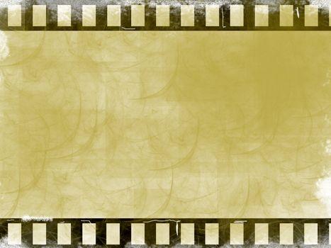 brown film background. old illustration, computer generated design