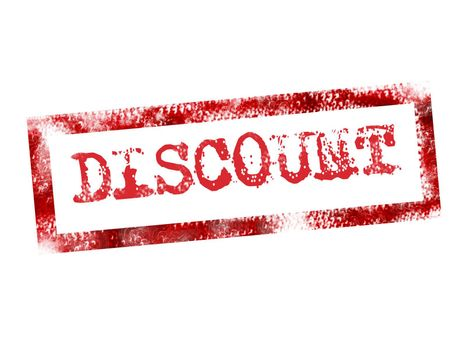 red discount stamp on white background. illustration
