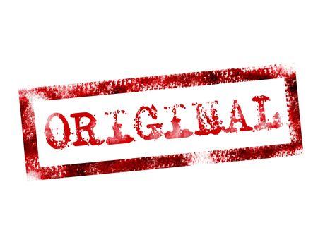 red original stamp on white background. illustration