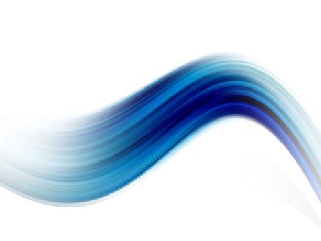 blue dynamic waves on white background illustration