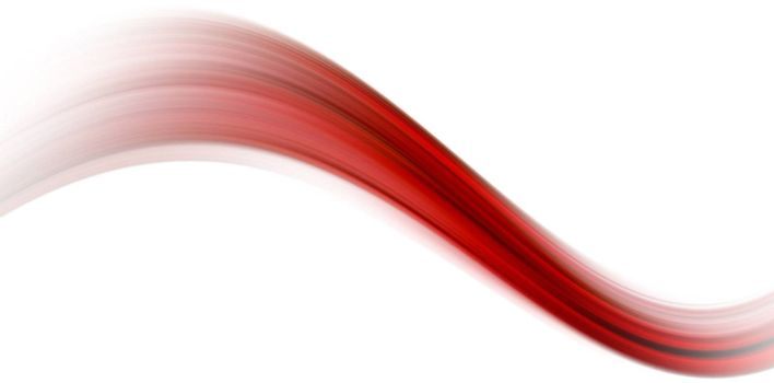 red dynamic wave on white background design