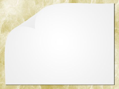 white paper whit 3d effect on brown texture background