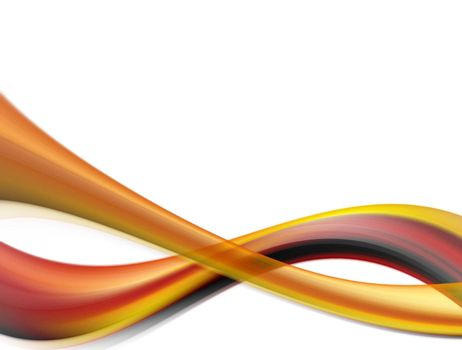 red and orange dynamic waves on white background