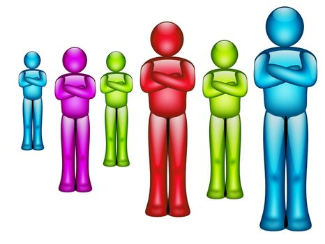 business team illustration with contrast colors. illustration