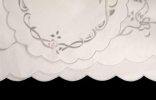 scalloped fabric background