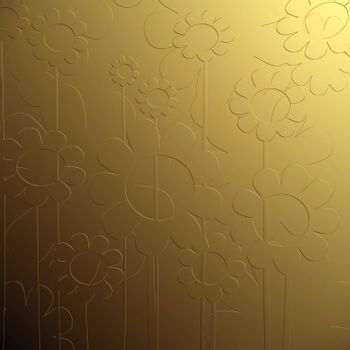 bas relief floral