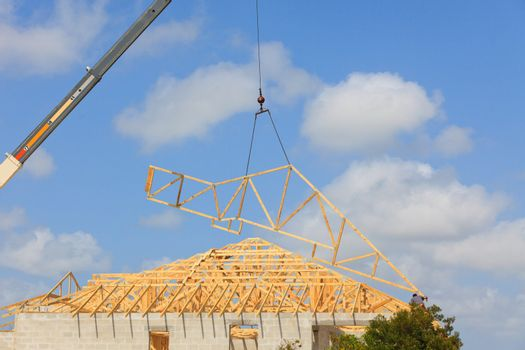 Home construction, roof turss