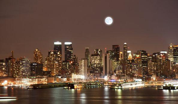 The Manhattan Skyline in New York City