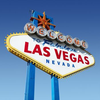 Welcome sign for Las Vegas, Nevada.