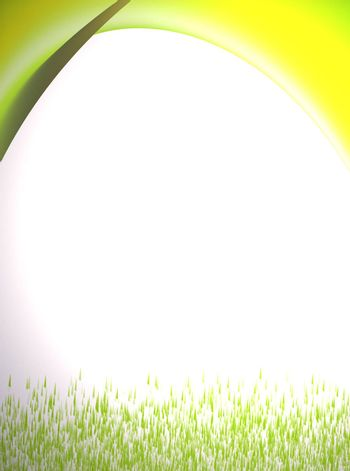 yellow, green and white background. morning abstract representation