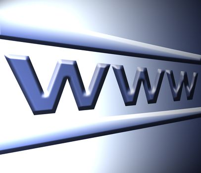 www letters on blue dynamic background, illustration