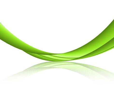 green, natural, reflexion, wave dynamic