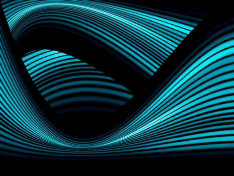 blue and black dynamic waves. cool background