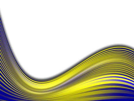blue and yellow backdrop waves