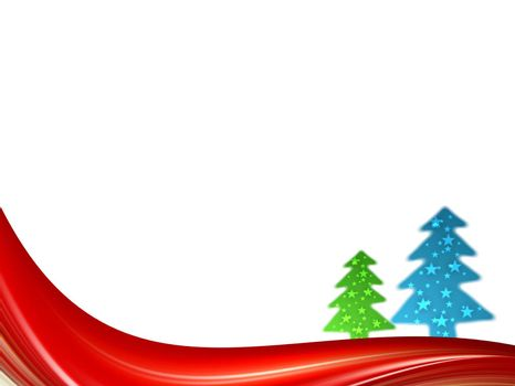 christmas dynamic card, red blue and green colors