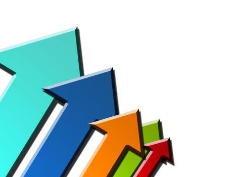 color arrows, dynamic background success