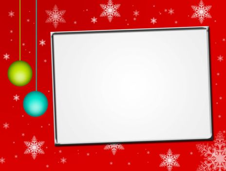 red christmas card, white space
