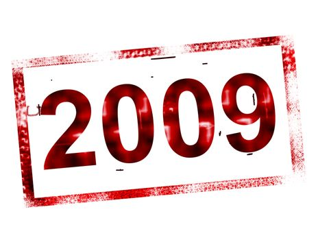 2009 red and old stamp