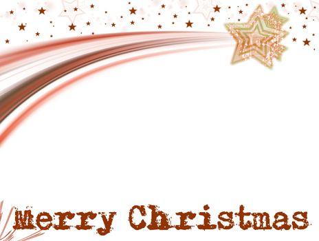 shooting star whit christmas text