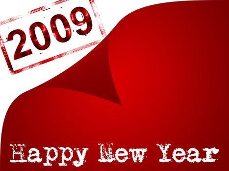 happy new year, 2009 design