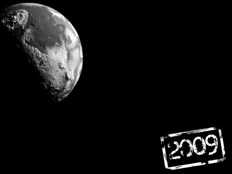planet on black background 2009