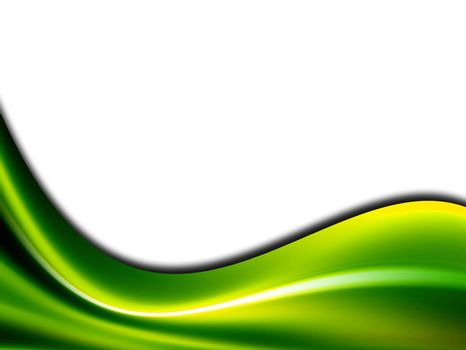 green conceptual wave on white background
