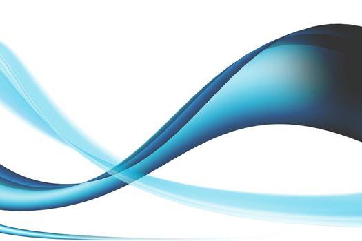 blue waves whit movement effect, illustration