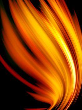 conceptual fire on black background, vibrant design