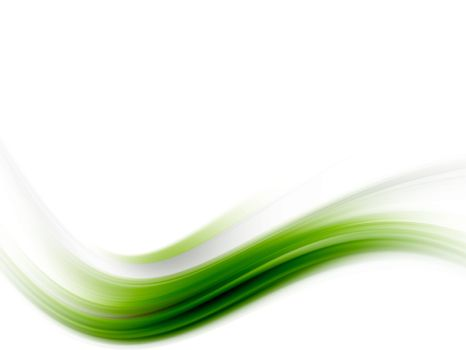 green wave on white background with soft effect