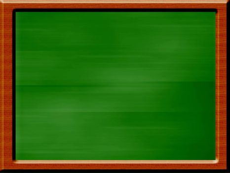 green board illustration on white background with frame