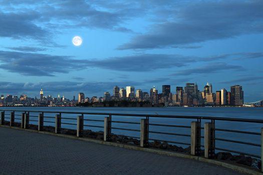 The Lower Manhattan Skyline in New York City
