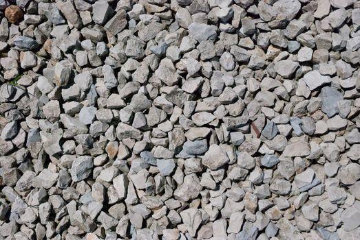 Close up of rough gravel