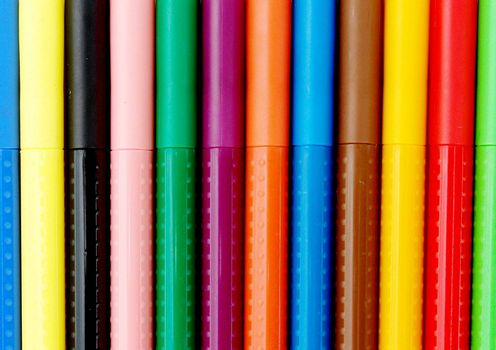 bookmark lines with red, green, blue, black and orange colors