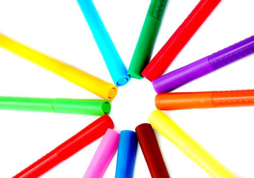 bookmark colors on white background, circle structure