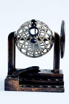 bingo machine on white background, isolated image