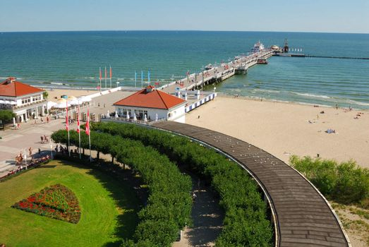 View from old lighthouse in Sopot, Poland